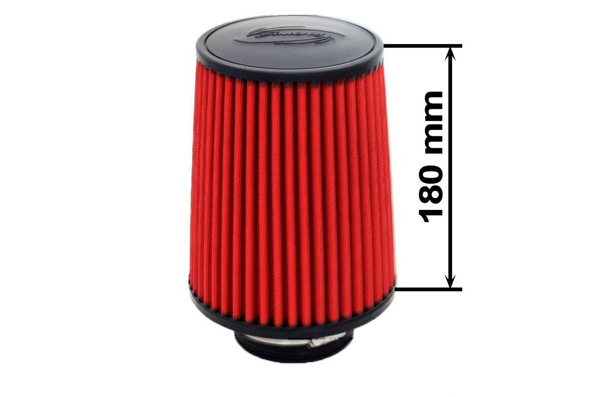 Filtr stożkowy SIMOTA JAU-X02101-11 60-77mm Red - GRUBYGARAGE - Sklep Tuningowy